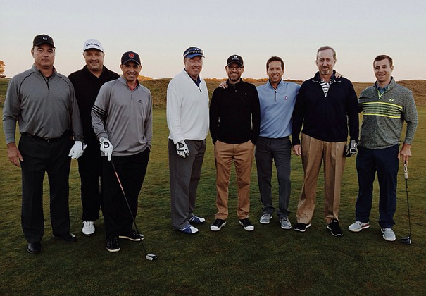 Group of golfers at Bandon Dunes golf course