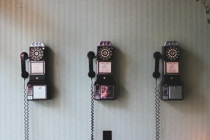 Vintage payphones