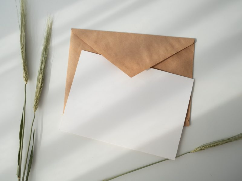 letter and envelope