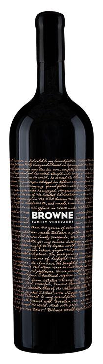 Browne Family Dedication Cabernet Sauvignon Double Magnum bottle