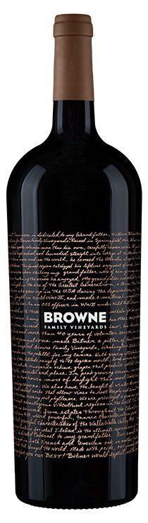 Browne Family Dedication Cabernet Sauvignon bottle
