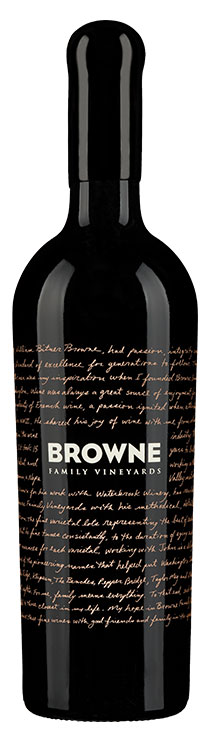 Browne Family Dedication Red Blend bottle