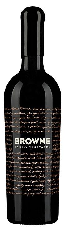 Browne Family Dedication Red Blend bottle