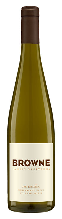 Browne Family Winemaker's Riesling bottle