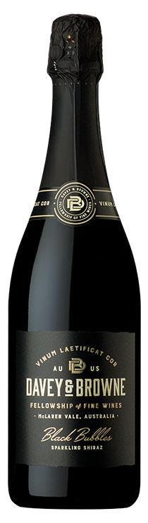 Davey and Browne Black Bubbles Sparkling Shiraz bottle