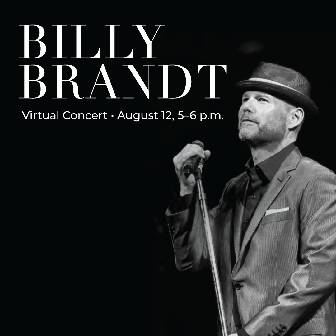 Billy Brandt Virtual Concert August 12, 5 to 6 p.m.